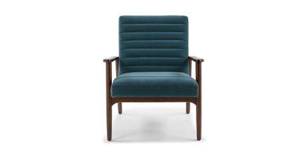 Thetis Velvet Chair Pacific Blue