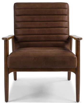 Article Thetis Mid-Century Modern Leather Chair Charme Chocolat