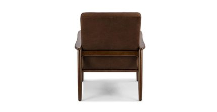Thetis Mid-Century Modern Leather Chair Charme Chocolat