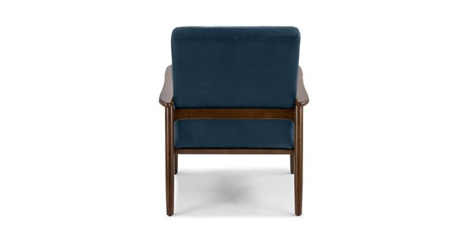 Article Thetis Mid-Century Modern Leather Chair Charme Indigo