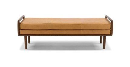 Ansa Mid-Century Modern Bench Charme Tan