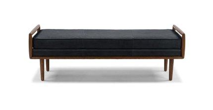Ansa Mid-Century Modern Bench Charme Black