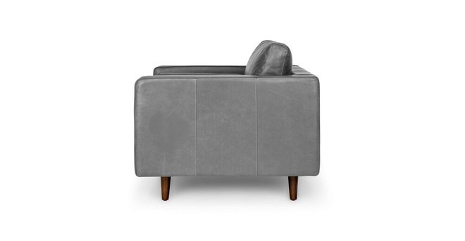 Sven Mid-Century Modern Tufted Chair Oxford Gray