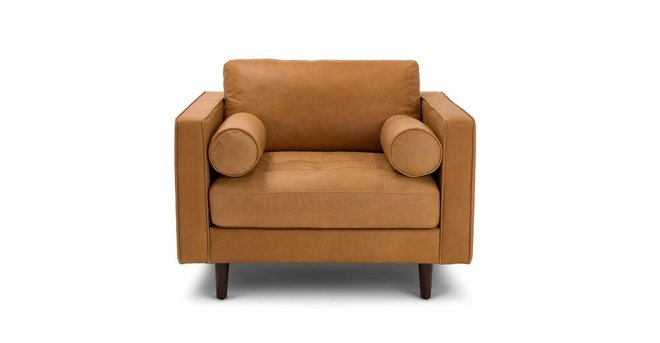 Article Sven Mid-Century Modern Tufted Chair Charme Tan