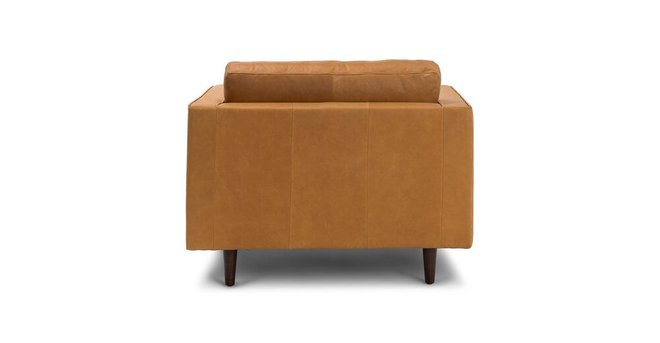 Sven Mid-Century Modern Tufted Chair Charme Tan