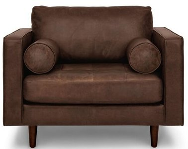 Article Sven Mid-Century Modern Tufted Chair Charme Chocolat