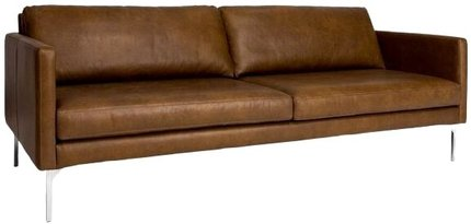 Article Echo Contemporary Leather Sofa Oxford Tan