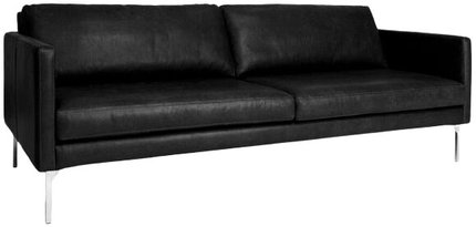 Article Echo Contemporary Leather Sofa Oxford Black