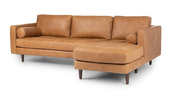 Article Sven Right Sectional Sofa Charme Tan