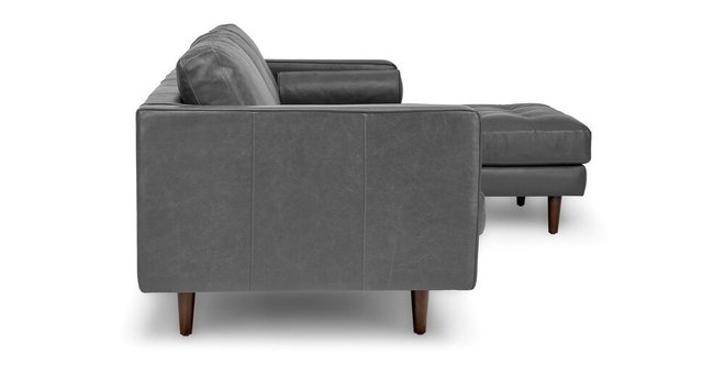 Article Sven Right Sectional Sofa Oxford Gray