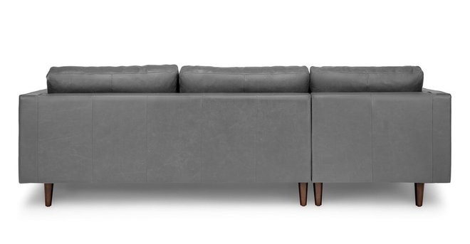 Sven Mid Century Modern Tufted Leather Left Sectional