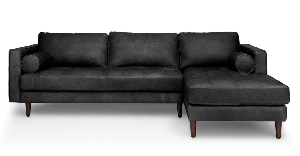 Sven Right Sectional Sofa Oxford Black