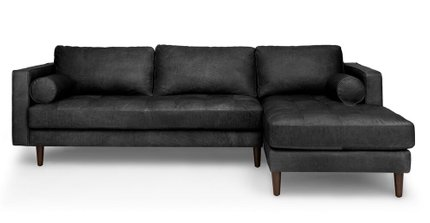 Article Sven Right Sectional Sofa Oxford Black