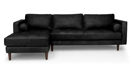 Article Sven Left Sectional Sofa Oxford Black