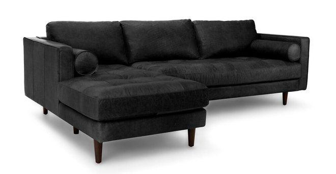 Sven Left Sectional Sofa Oxford Black