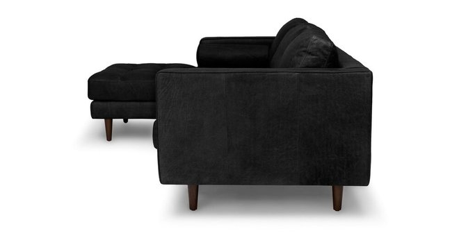 Sven Left Sectional Sofa Oxford Black