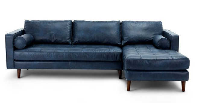 Sven Right Sectional Sofa Oxford Blue