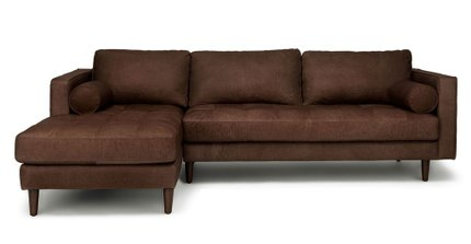 Sven Left Sectional Sofa Charme Chocolat