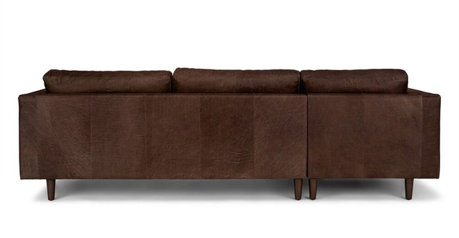 Article Sven Left Sectional Sofa Charme Chocolat