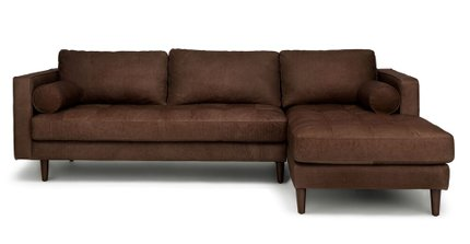 Article Sven Right Sectional Sofa Charme Chocolat