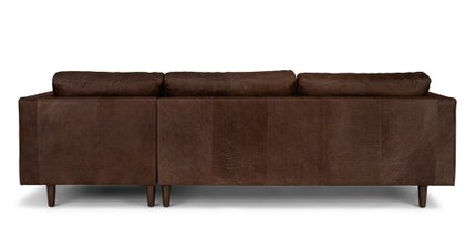 Sven Right Sectional Sofa Charme Chocolat