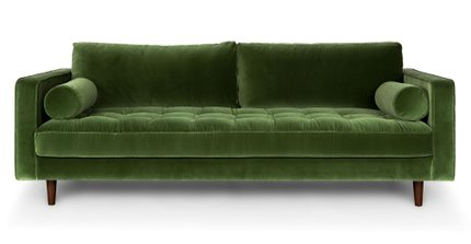 Article Sven Mid-Century Modern Sofa Grass Green