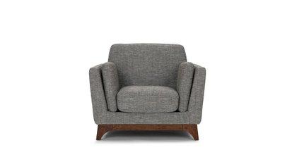 Ceni Mid-Century Modern Armchair Chair Gray