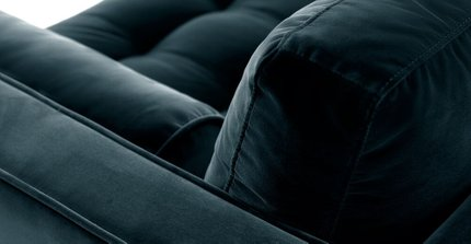 Sven Mid-Century Modern Sofa Pacific Blue