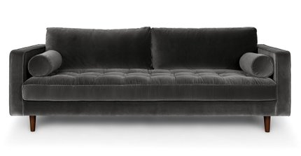 Sven Mid-Century Modern Sofa Shadow Gray