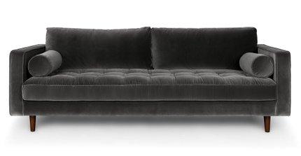 Article Sven Mid-Century Modern Sofa Shadow Gray