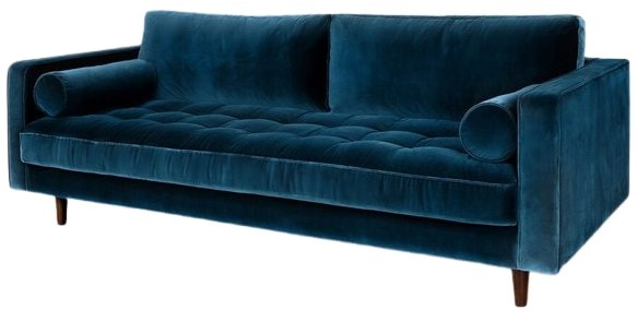 Article Sven Mid-Century Modern Sofa Cascadia Blue