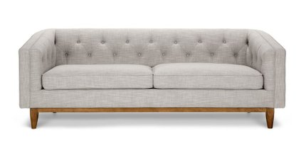 Alcott Modern Sofa Rain Cloud Gray