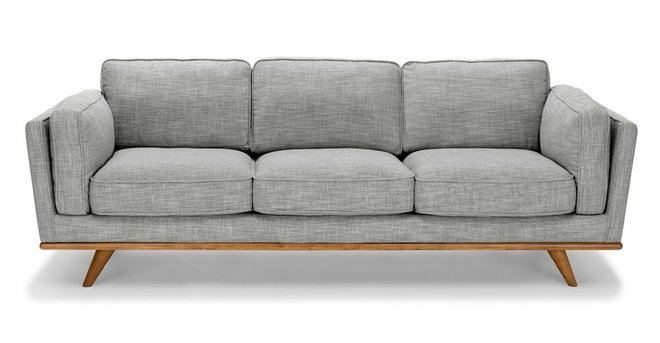 Timber Mid-Century Modern Sofa Pebble Gray