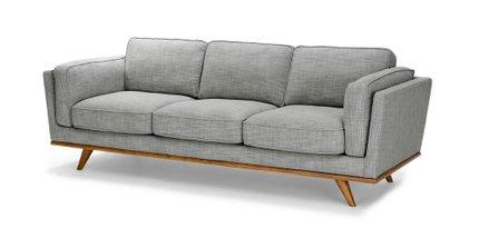 Timber Mid-Century Modern Sofa Pebble Gray