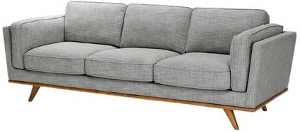 Article Timber Mid-Century Modern Sofa Pebble Gray