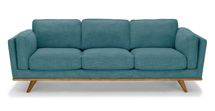 Timber Mid-Century Modern Sofa Blue