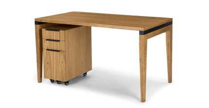 Madera 54 Desk Rustic Oak