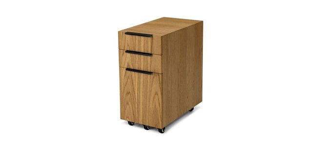 Article Madera File Cabinet Rustic Oak