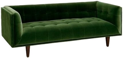 Article Cirrus Mid-Century Modern Sofa Grass Green