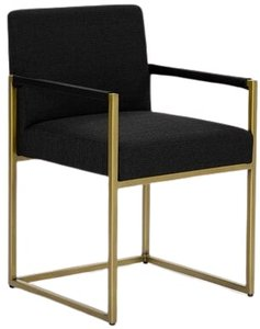 Article Oscuro Dining Armchair Pure Black