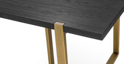 "Oscuro 78"" Dining Table Black"