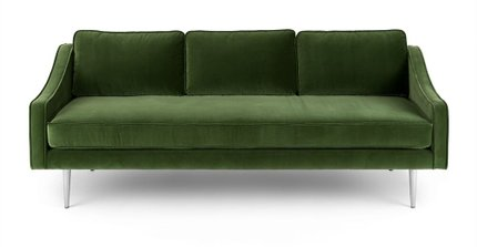 Mirage Contemporary Sofa Grass Green
