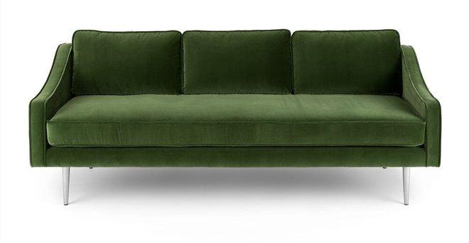 Mirage Contemporary Sofa Grass Green