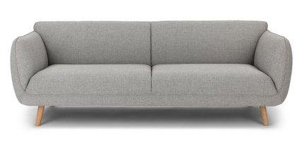 Haro Mid-Century Modern Fabric Sofa Gray