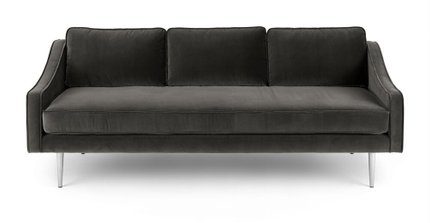 Mirage Contemporary Sofa Shadow Gray