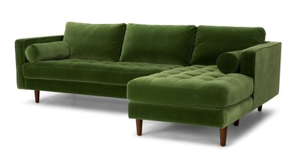Sven Right Sectional Sofa Grass Green