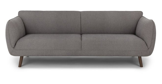 Article Haro Mid-Century Modern Fabric Sofa Storm Gray