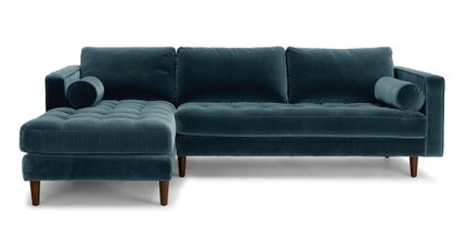 Sven Left Sectional Sofa pacific Blue