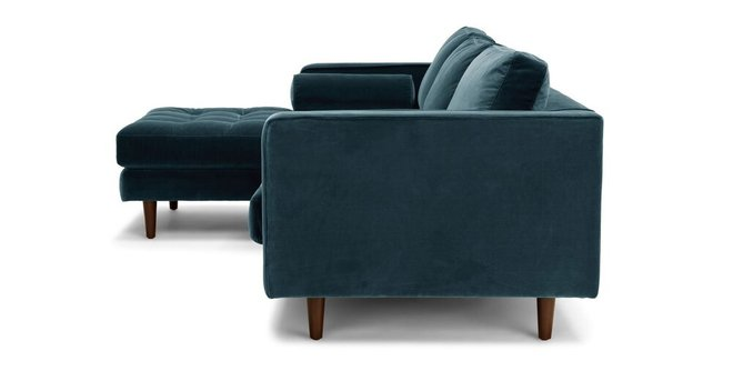 Astounding Sven Left Sectional Sofa Pacific Blue Gamerscity Chair Design For Home Gamerscityorg