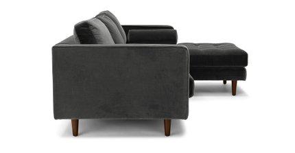 Sven Right Sectional Sofa Shadow Gray